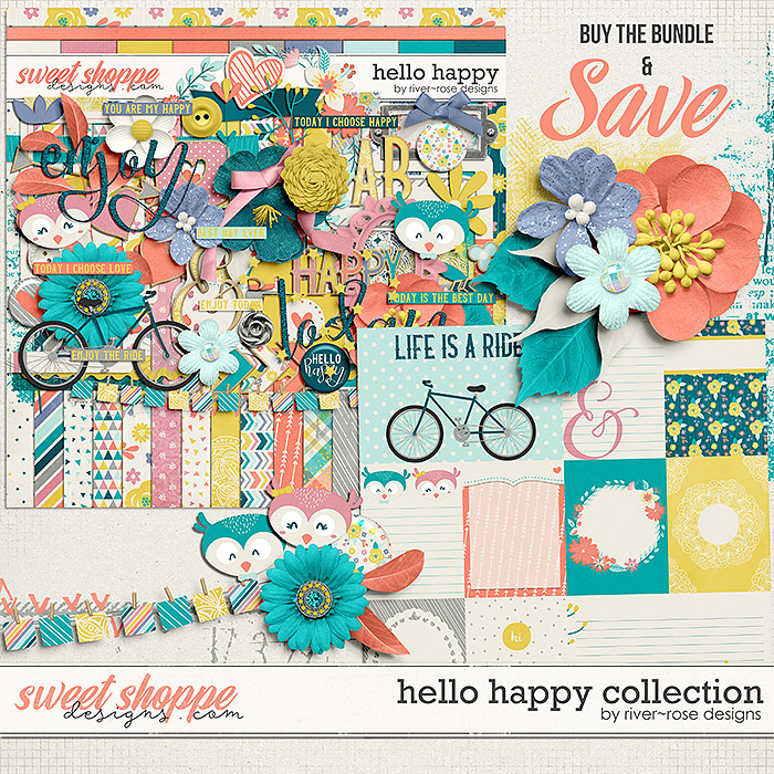 Hello Happy Collection by River Rose Designs