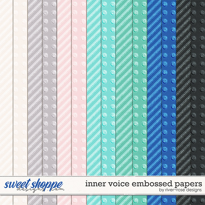 Inner Voice Embossed Papers by River Rose Designs