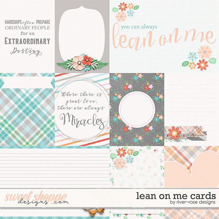 Lean on Me Cards by River Rose Designs