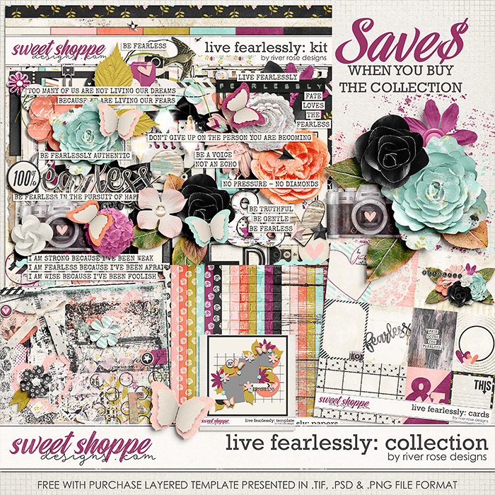 Live Fearlessly: Collection by River Rose Designs