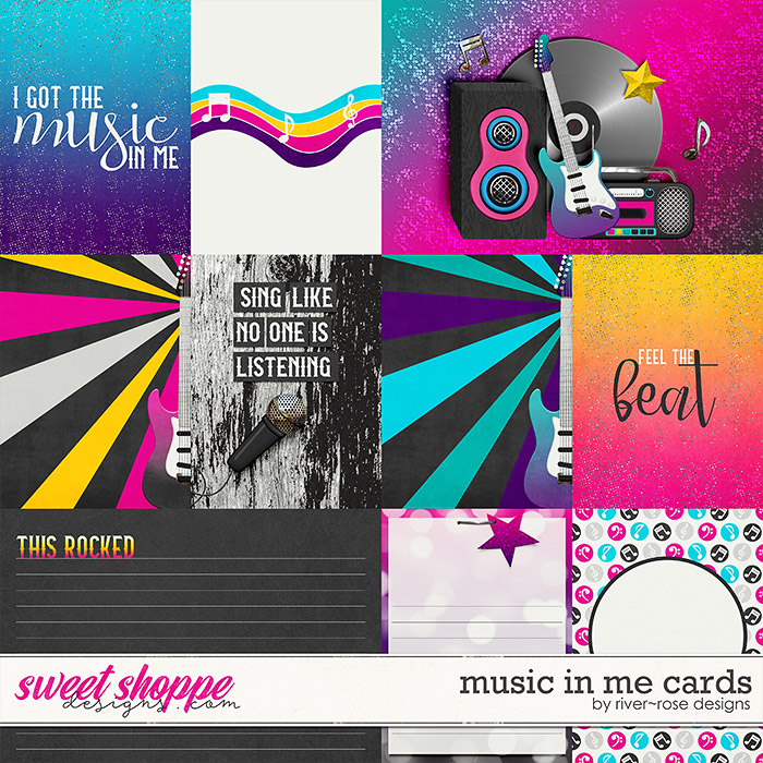 Music in me Cards by River Rose Designs
