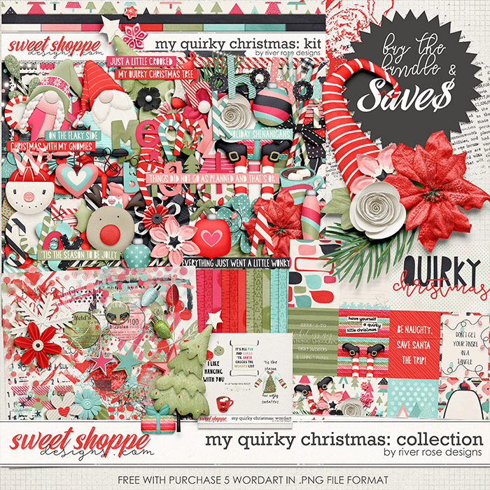 My Quirky Christmas: Collection + FWP by River Rose Designs