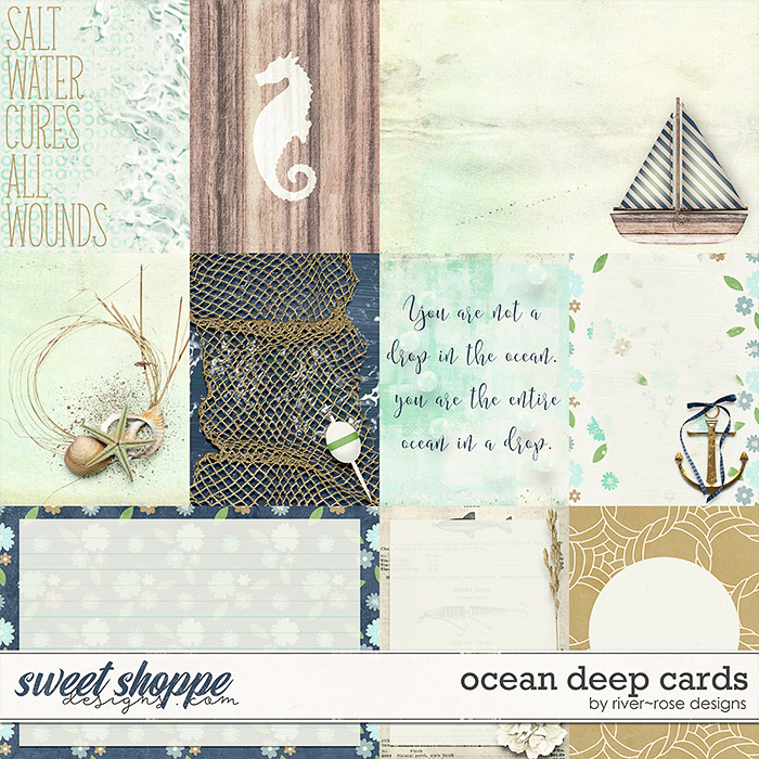 Ocean Deep Cards by River Rose Design
