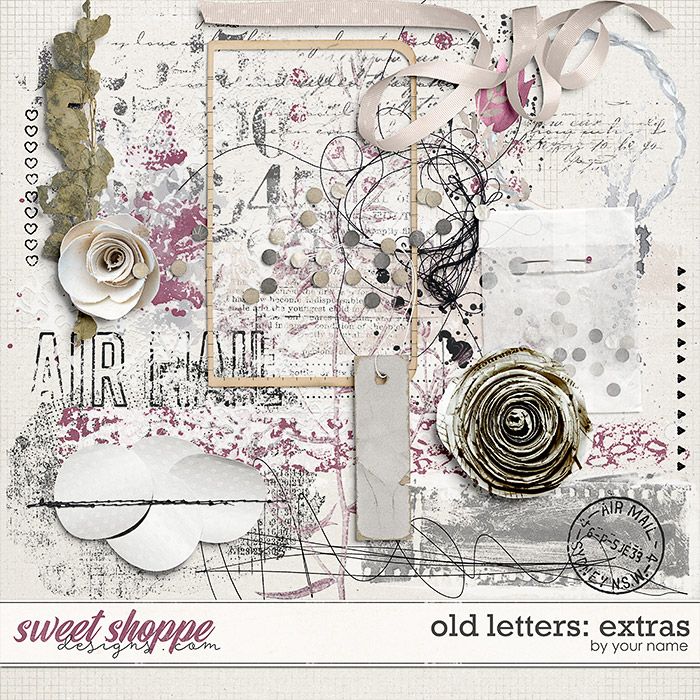 Old Letters: Extras by River Rose Designs