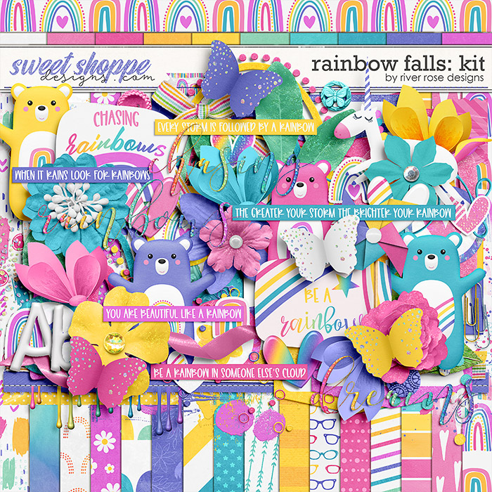 Rainbow Falls: Kit by River Rose Designs