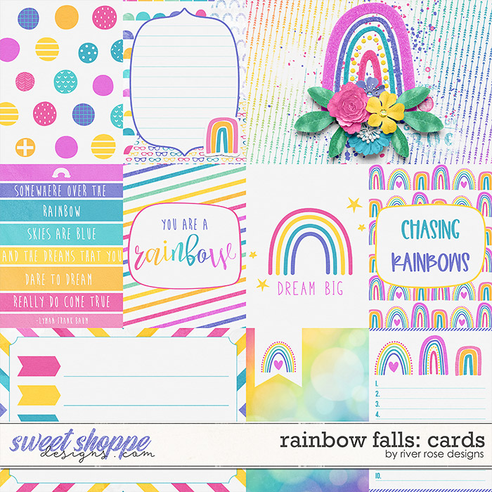 Rainbow Falls: Cards by River Rose Designs