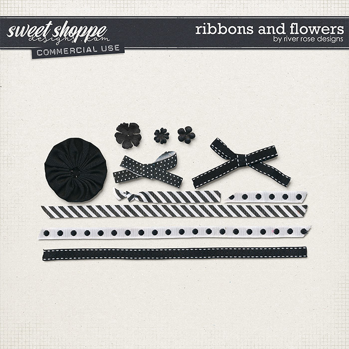 CU Ribbons and Flowers by River Rose Designs