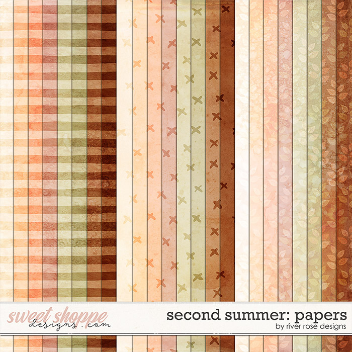 Second Summer: Papers by River Rose Designs