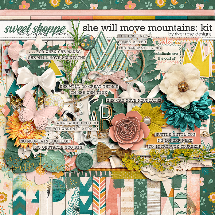 She Will Move Mountains: Kit by River Rose Designs