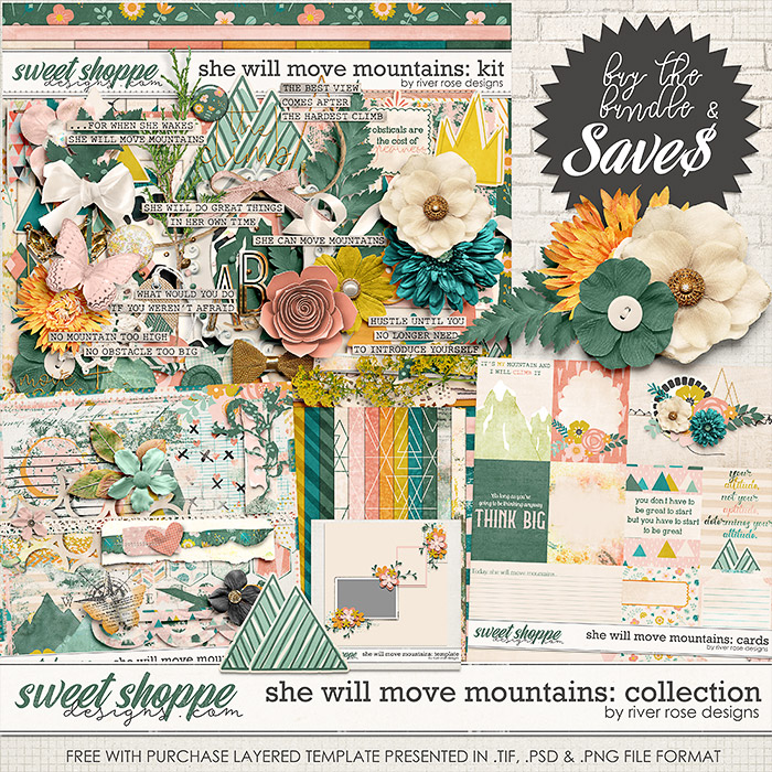 She Will Move Mountains: Collection + FWP by River Rose Designs