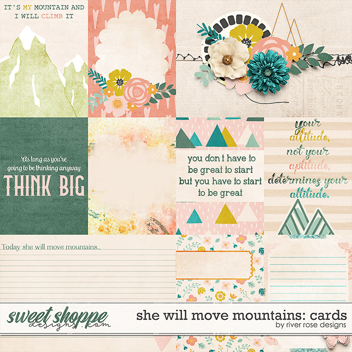 She Will Move Mountains: Cards by River Rose Designs