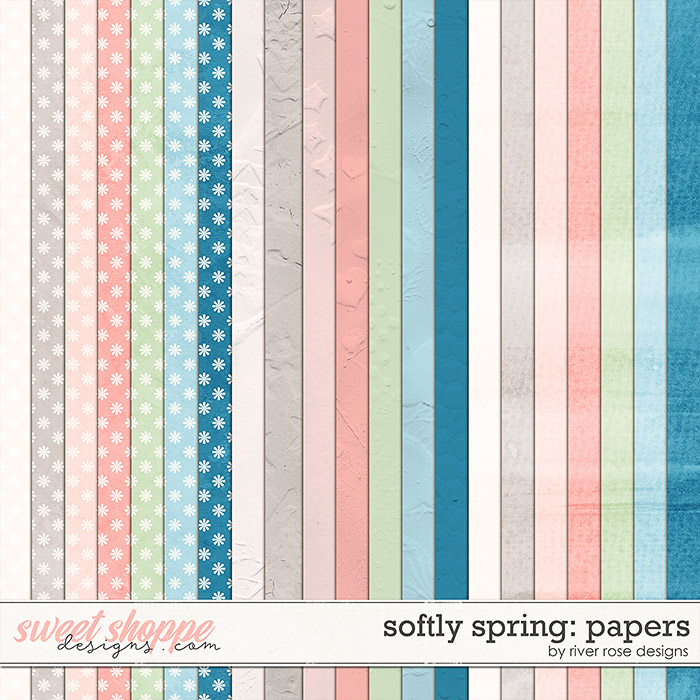 Softly Spring: Papers by River Rose Designs