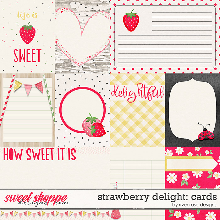 Strawberry Delight: Cards by River Rose Designs