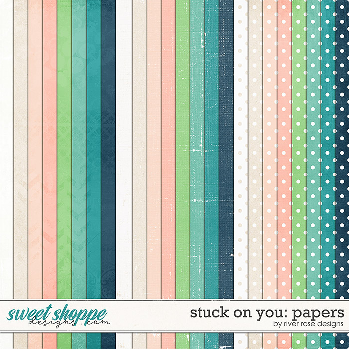 Stuck on You Papers by River Rose Designs