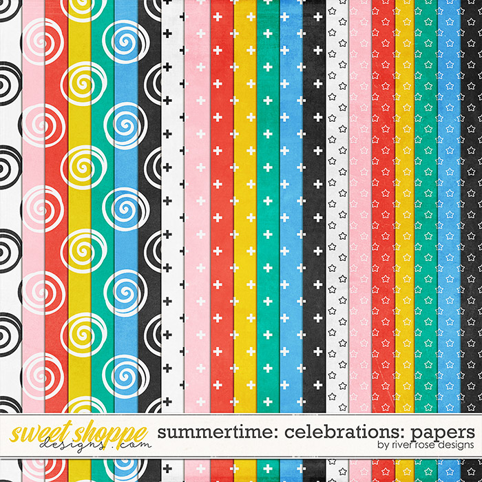 Summertime Celebrations: Papers by River Rose Designs