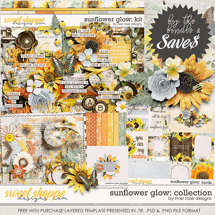 Sunflower Glow: Collection + FWP by River Rose Designs