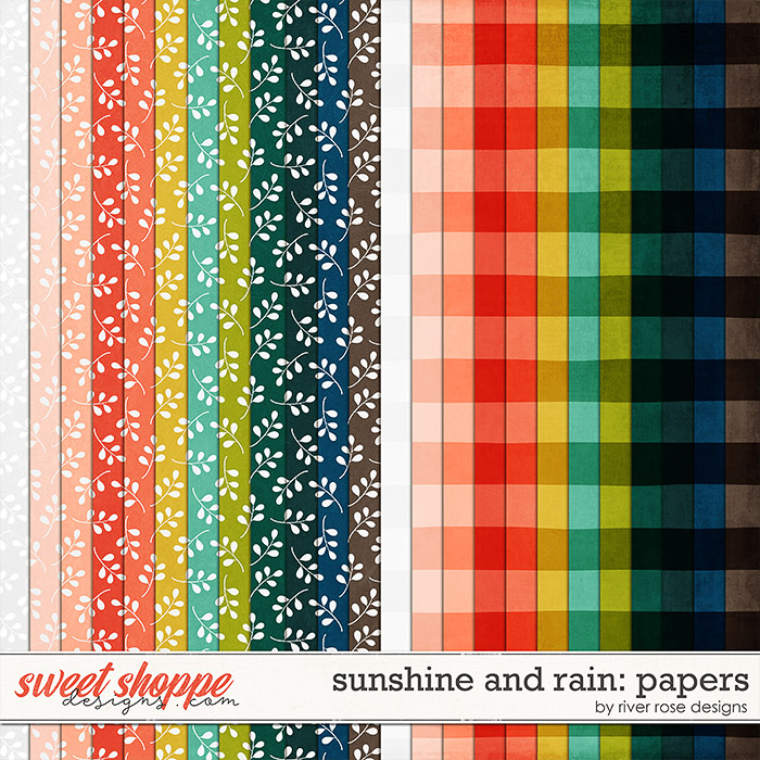 Sunshine and Rain: Papers by River Rose Designs