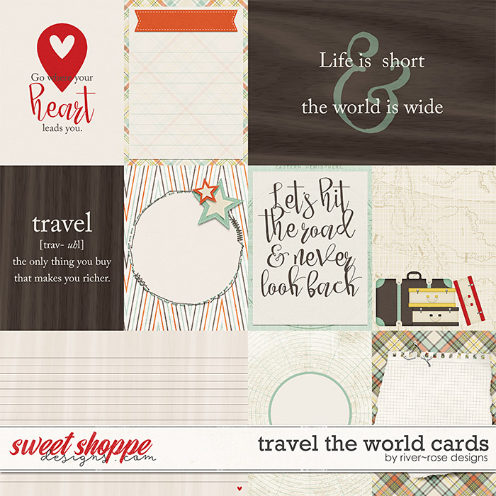 Travel the World Cards by River Rose Designs