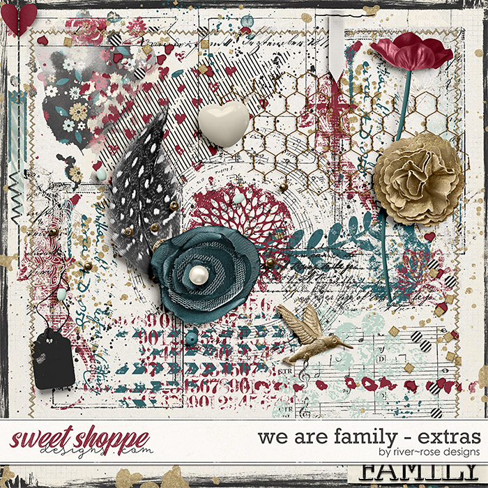 We are Family Extras by River Rose Designs