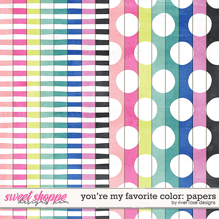 You're My Favorite Color: Papers by River Rose Designs