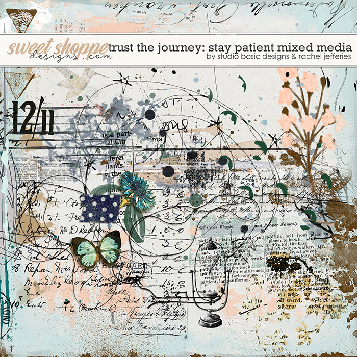 Trust The Journey: Stay Patient Mixed Media by Studio Basic and Rachel Jefferies