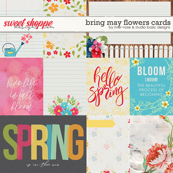 Bring May Flowers Cards by River Rose Designs & Studio Basic Designs