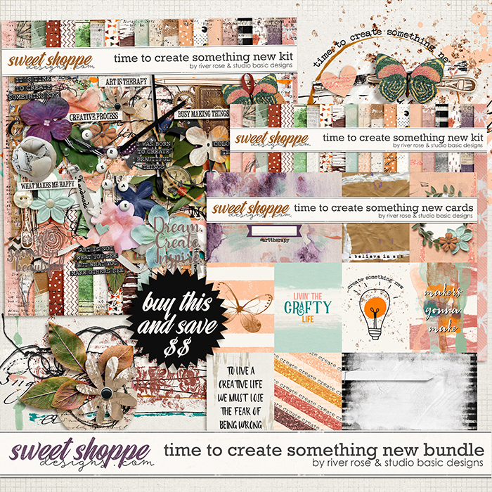 Time to Create Something New: Bundle by River Rose & Studio Basic Designs