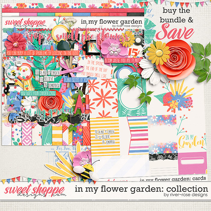 In My Flower Garden Collection by River Rose Designs