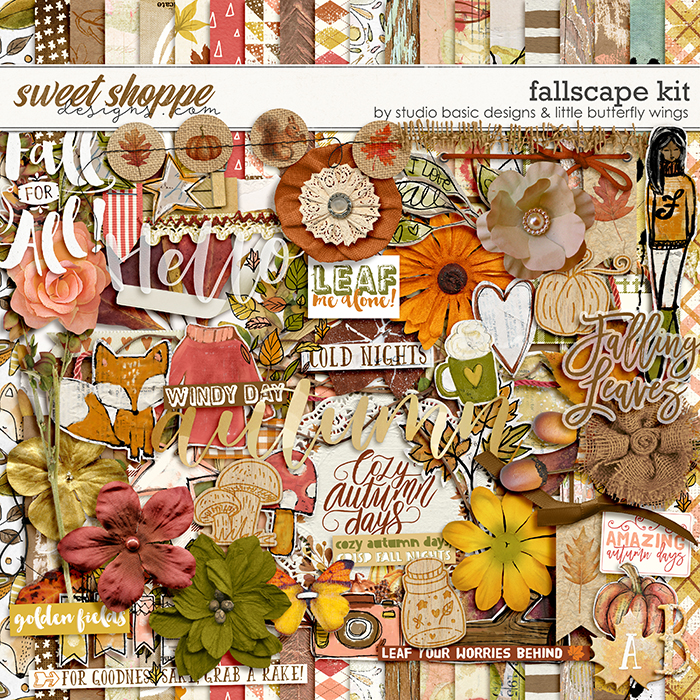 Fallscape Kit by Studio Basic and Little Butterfly Wings
