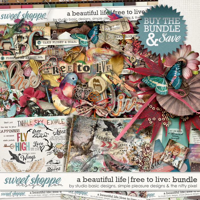 A Beautiful Life: Free To Live Bundle by Simple Pleasure Designs & Studio Basic & The Nifty Pixel