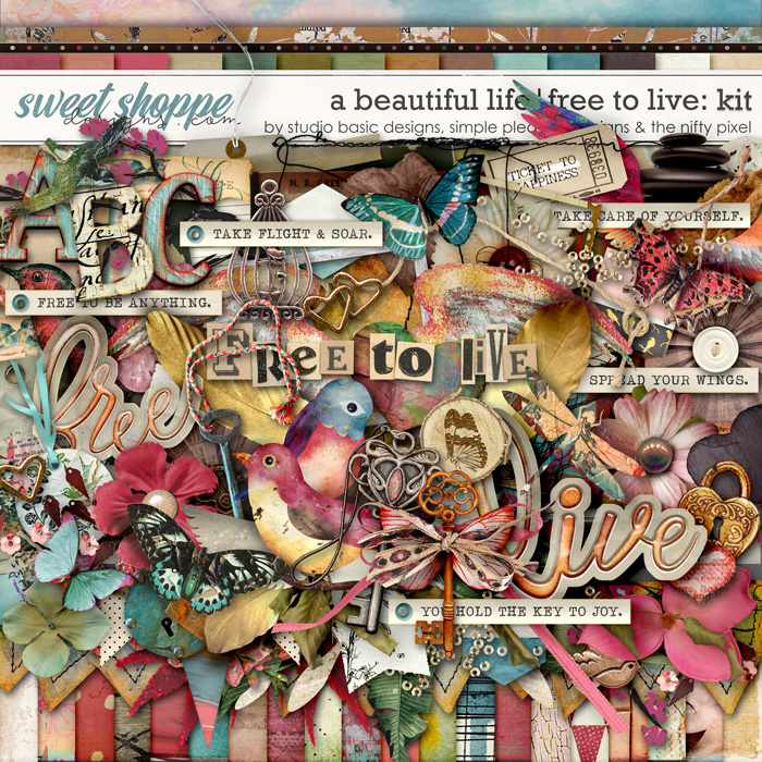 A Beautiful Life: Free To Live Kit by Simple Pleasure Designs & Studio Basic & The Nifty Pixel