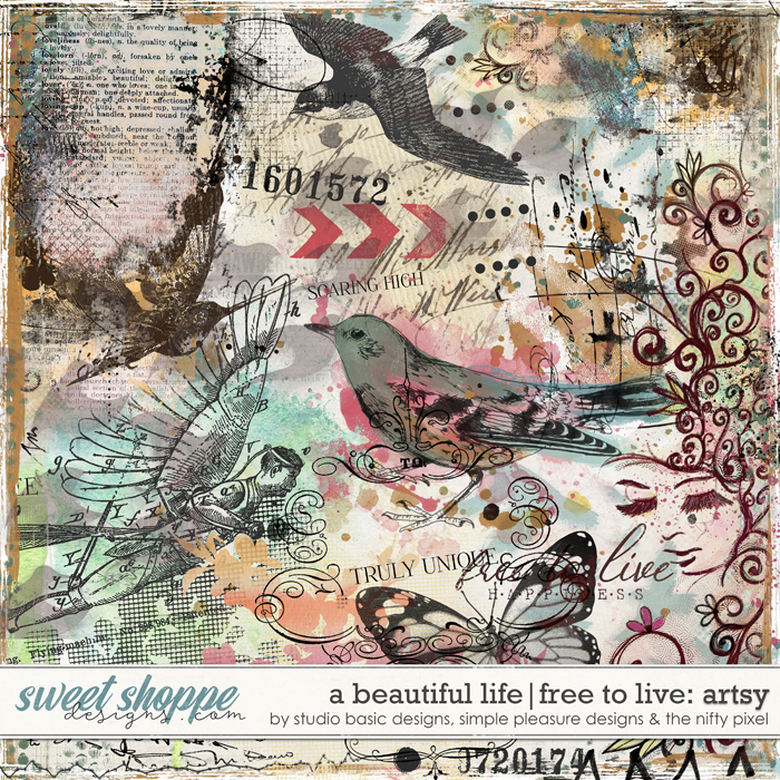 A Beautiful Life: Free To Live Artsy by Simple Pleasure Designs & Studio Basic & The Nifty Pixel