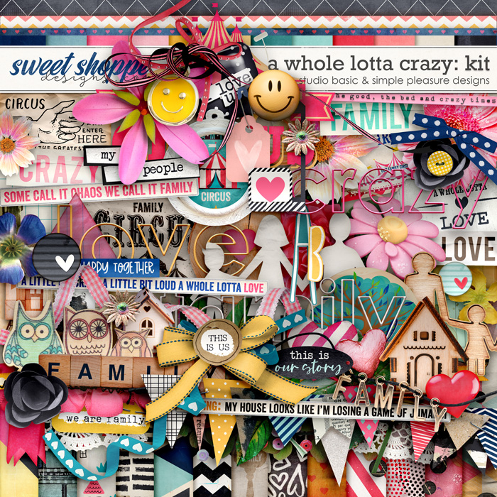 A Whole Lotta Crazy Kit by Simple Pleasure Designs and Studio Basic