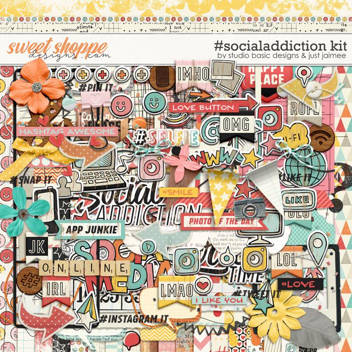 #socialaddiction Kit by Studio Basic and Just Jaimee