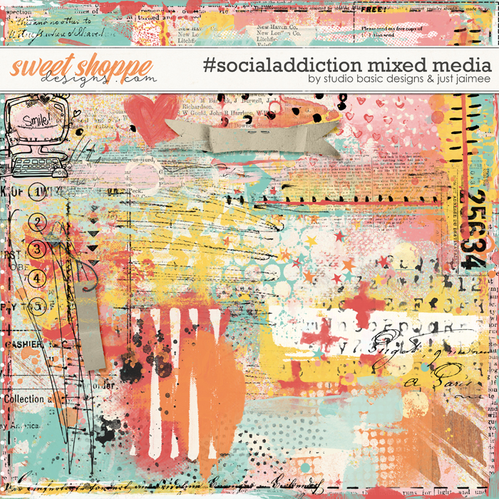 #socialaddiction Mixed Media by Studio Basic and Just Jaimee