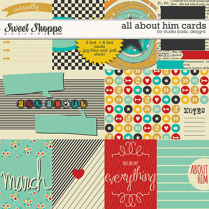 All About Him Cards by Studio Basic