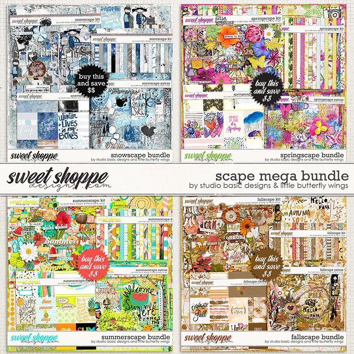 Scape MEGA BUNDLE by Studio Basic and Little Butterfly Wings
