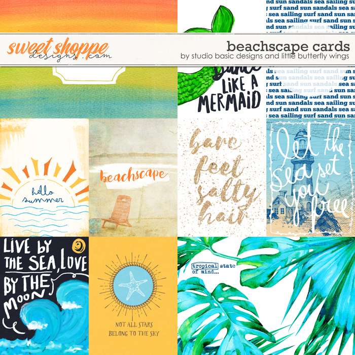 Beachscape Cards by Studio Basic Little Butterfly Wings
