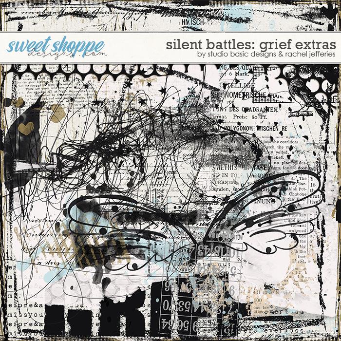 Silent Battles: Grief - Mixed Media by Studio Basic Designs & Rachel Jefferies