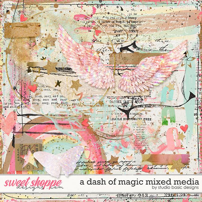 A Dash Of Magic Mixed Media by Studio Basic