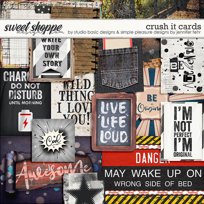 Crush It Cards by Simple Pleasure Designs and Studio Basic