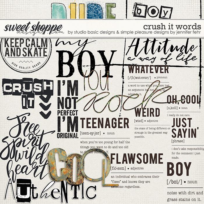 Crush It Words by Simple Pleasure Designs and Studio Basic