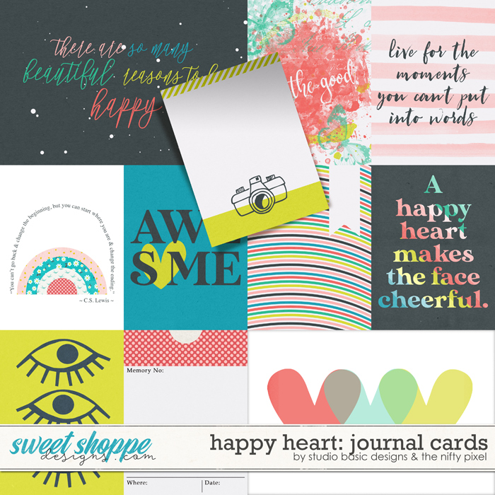 Happy Heart Cards by Studio Basic and The Nifty Pixel