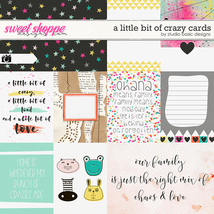 A Little Bit Of Crazy Cards by Studio Basic