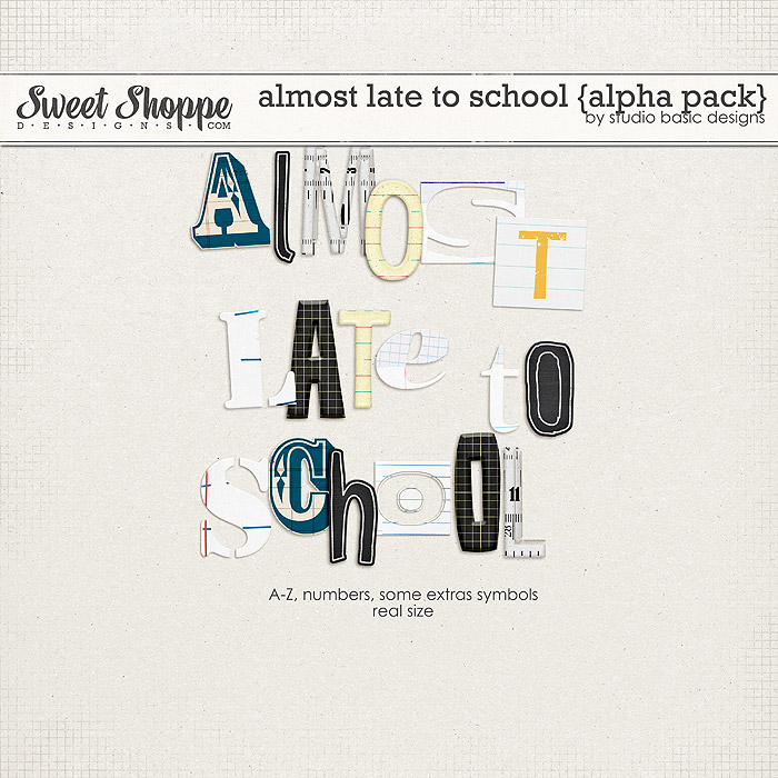 Almost Late To School {alpha pack} by Studio Basic