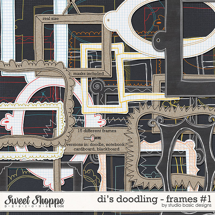 Di's Doodling - Frames #1 by Studio Basic