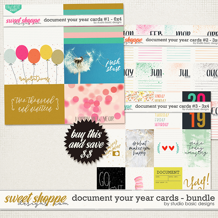 Document Your Year Cards Bundle by Studio Basic