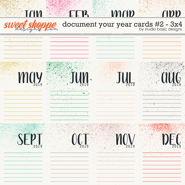 Document Your Year Cards #2 - 3x4 by Studio Basic