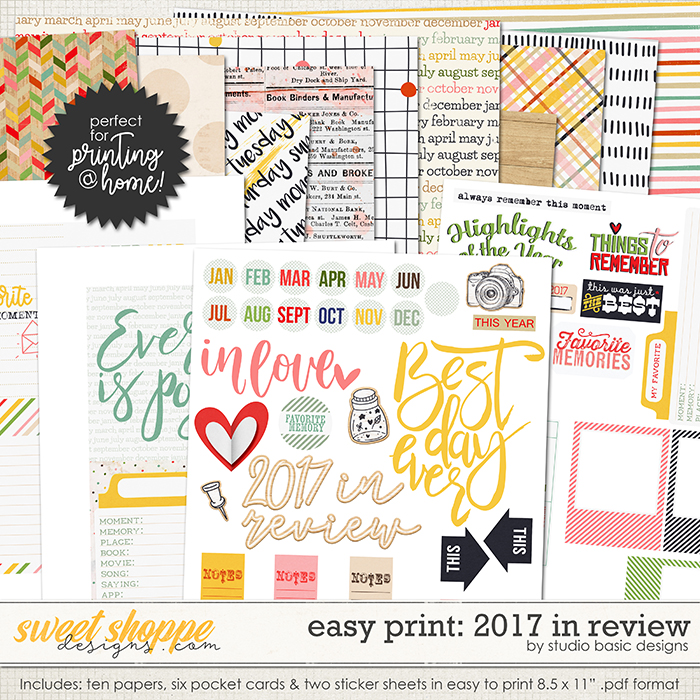 Easy Print: 2017 In Review by Studio Basic