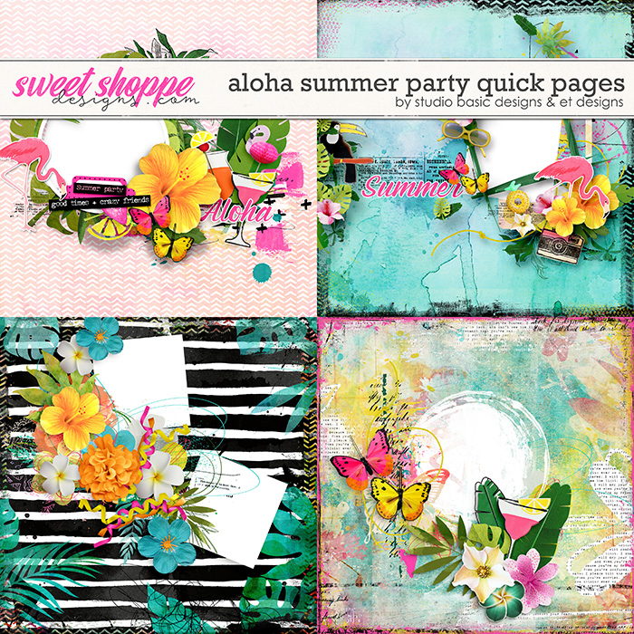 Aloha Summer Party Quick Pages by Studio Basic and et designs